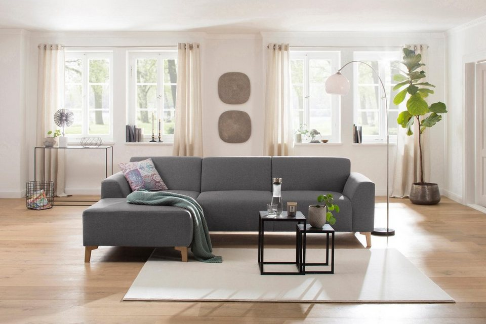 home affaire ecksofa jaden mit recamiere federkern und. Black Bedroom Furniture Sets. Home Design Ideas