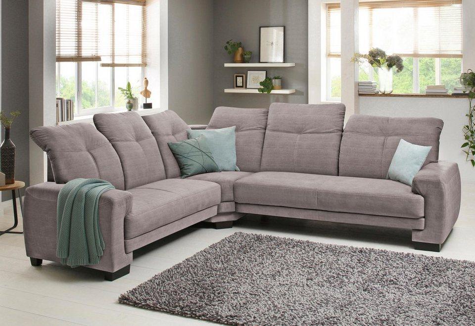 home affaire ecksofa napoli mit kopfteilverstellung federkern gro online kaufen otto. Black Bedroom Furniture Sets. Home Design Ideas