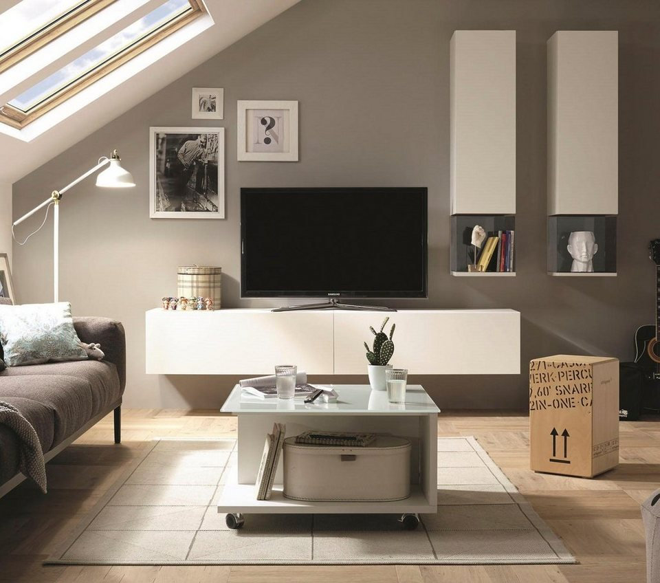 now by h lsta wohnwand now for you 6 tlg otto. Black Bedroom Furniture Sets. Home Design Ideas