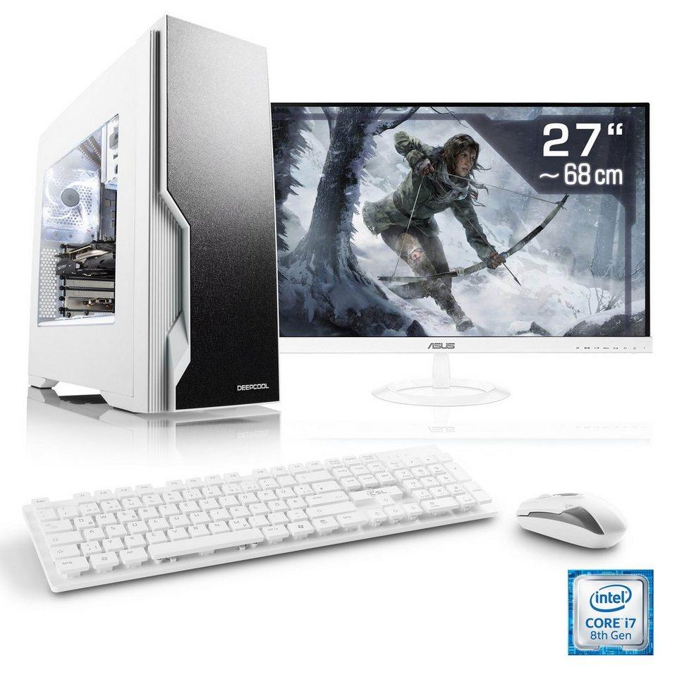 CSL Gaming PC Set | Core i7-8700 | GTX 1050 Ti | 16GB DDR4 | 27