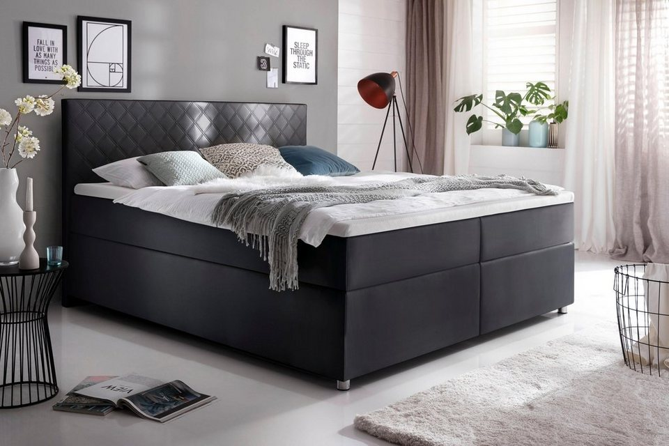 meise m bel boxspringbett in kunstleder kaufen otto. Black Bedroom Furniture Sets. Home Design Ideas
