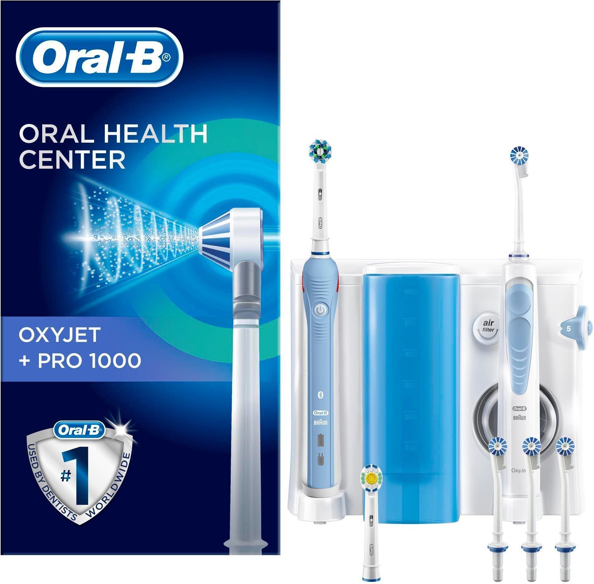 Oral-B Zahnpflegesystem OxyJet Reinigungssystem Munddusche + Oral-B PRO 1000