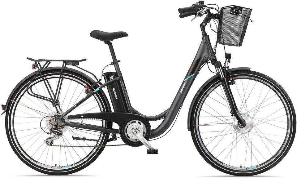 telefunken alu city e bike 28 zoll 7 gang shimano acera. Black Bedroom Furniture Sets. Home Design Ideas