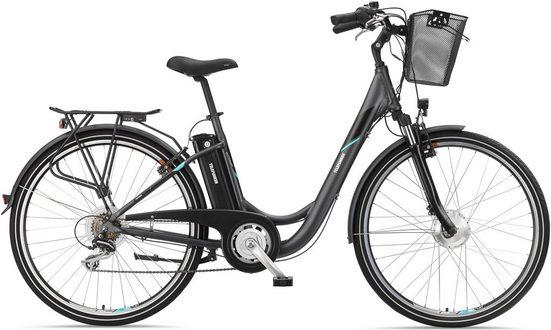 Telefunken E-Bike »RC735 Multitalent«, 7 Gang Shimano Acera Schaltwerk, Kettenschaltung, Frontmotor 250 W