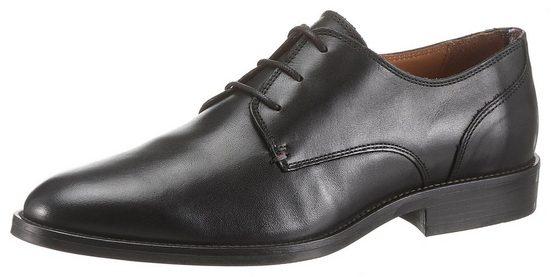 TOMMY HILFIGER »ESSENTIAL LEATHER LACE UP DERBY« Schnürschuh mit komfortablem Fußbett