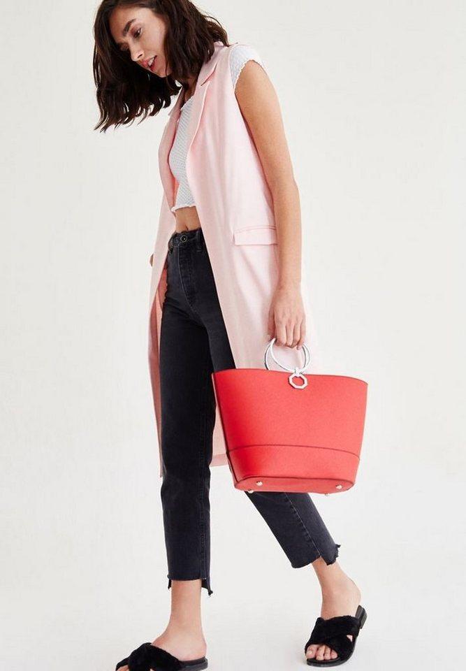 OXXO Longweste mit Nebentaschen   Bekleidung > Westen > Longwesten   Rosa   Jeans   OXXO