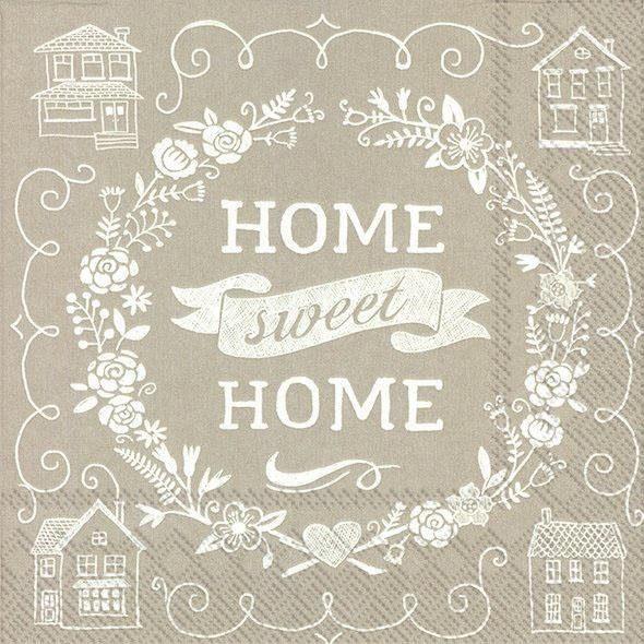 """Serviette """"Sweet Home"""""""