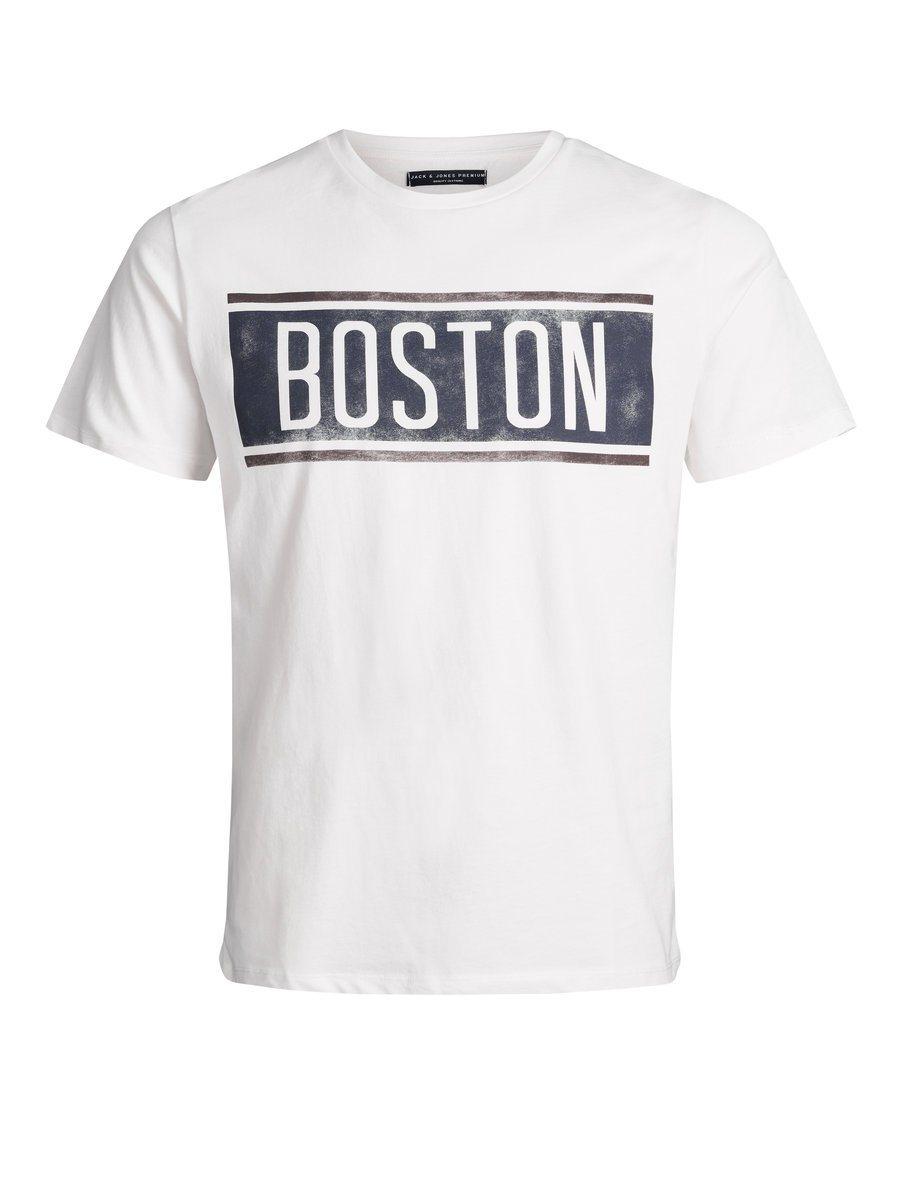 Herren Jack & Jones Bleich-Optik T-Shirt weiß   05713754894980