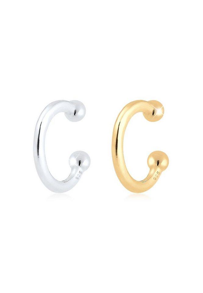 Elli Ohrclip »Earcuff Set Bi-Color Kugel Geo Minimal 925 Silber«   Schmuck > Ohrschmuck & Ohrringe > Ear Cuff   Elli