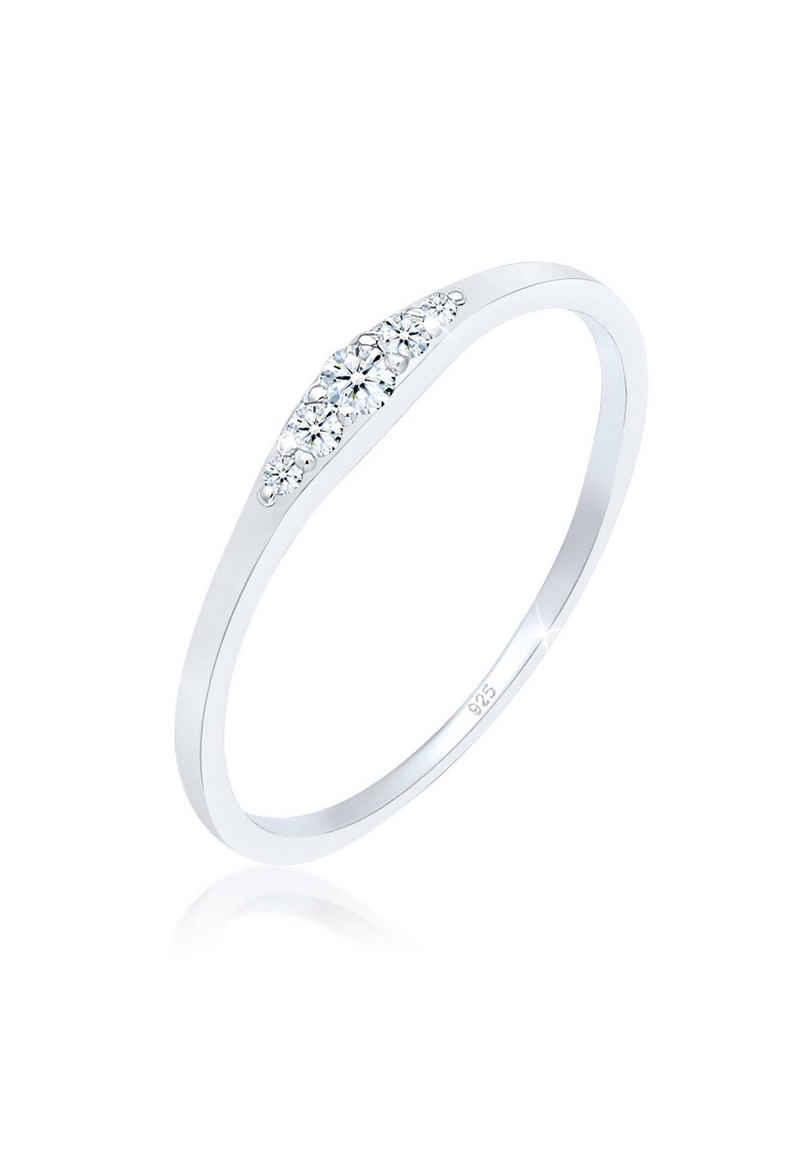Diamore Verlobungsring »Verlobungsring Diamant (0.09 ct) 925 Silber«