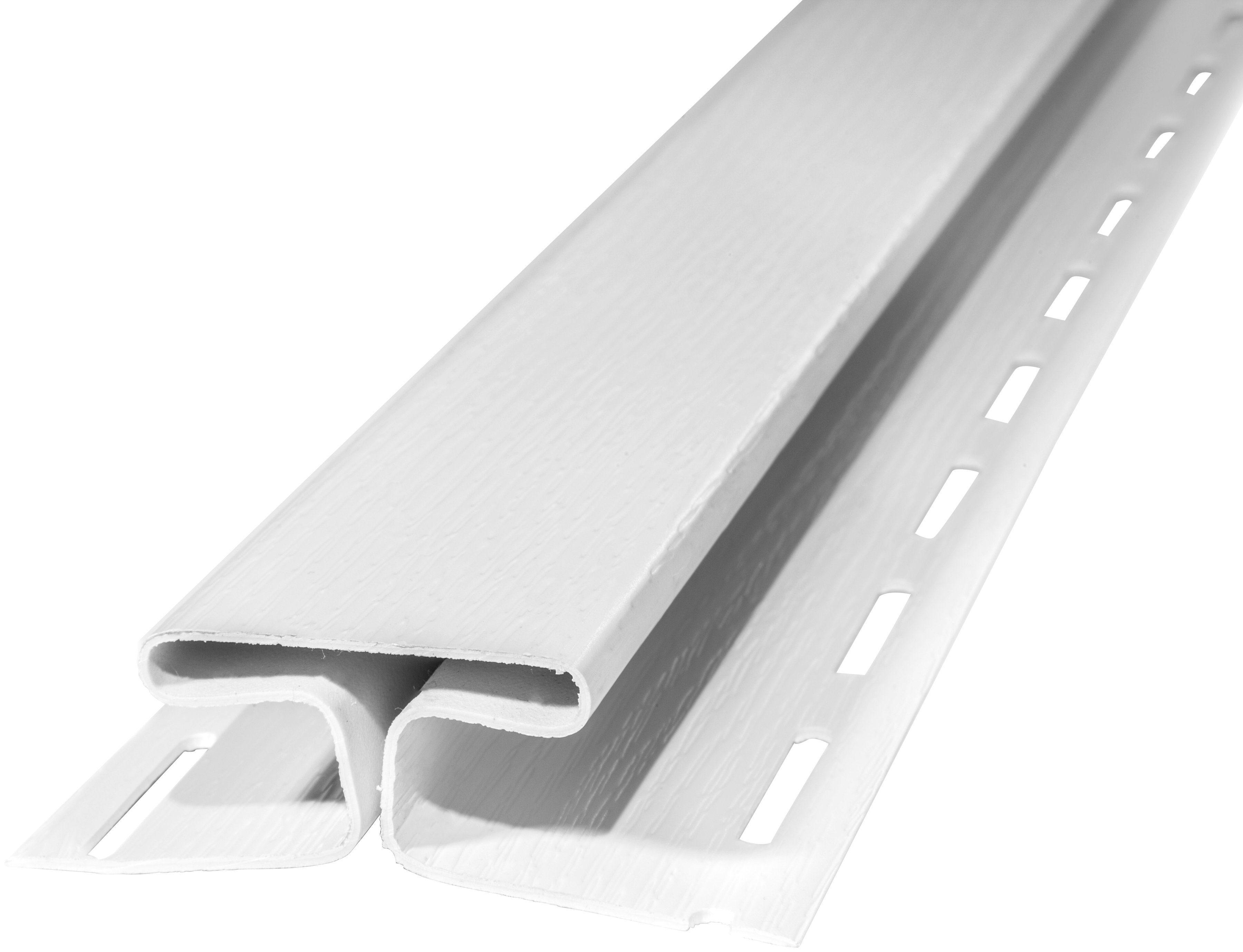 BAUKULIT Set: Verbindungsprofile »SOFFIT Weiß«, für Dachüberstand, 2er Set, je 1,525 m