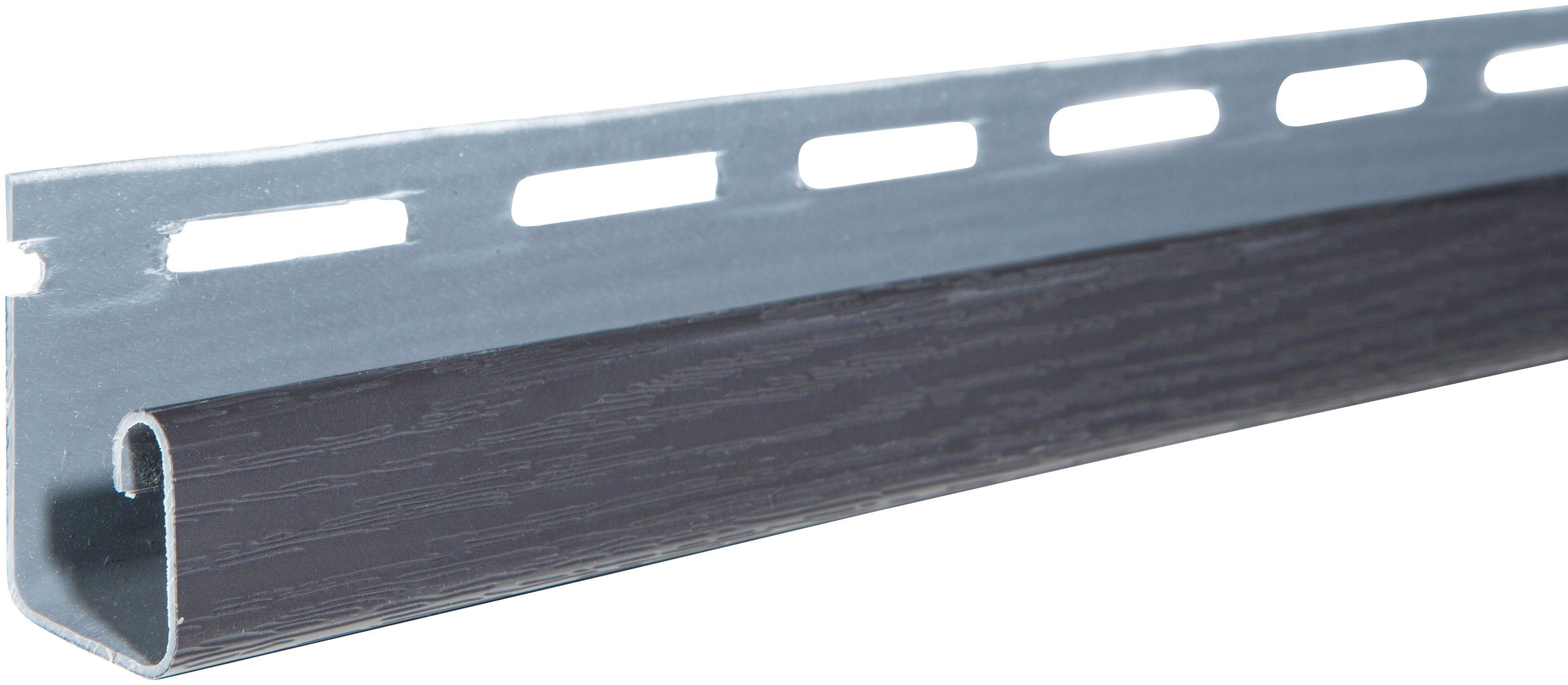 BAUKULIT Set: Abschlussprofil »SOFFIT«, graphit, für Dachüberstand, 4er Set, je 1,525 m