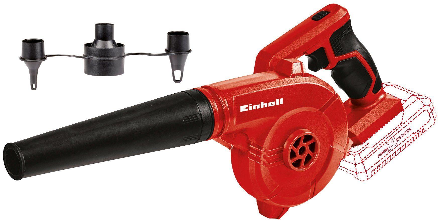 EINHELL Akku-Gebläse »TE-CB 18/180 Li - Solo«, 18 V, ohne Akku und Ladegerät, inkl. Adapter