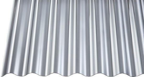 GUTTA Wellplatte Polycarbonat anthrazit, BxL: 90x600 cm