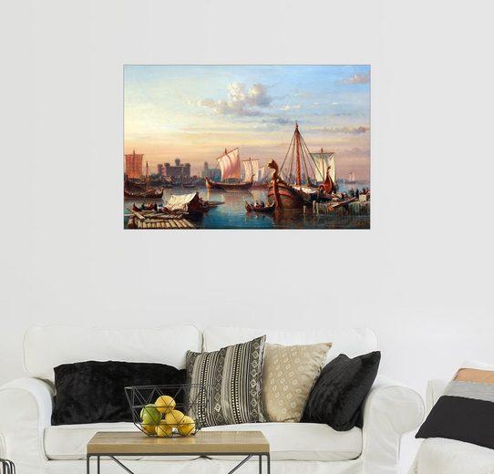 Posterlounge Wandbild - Everhardus Koster »Wikingerschiffe auf der Themse.«
