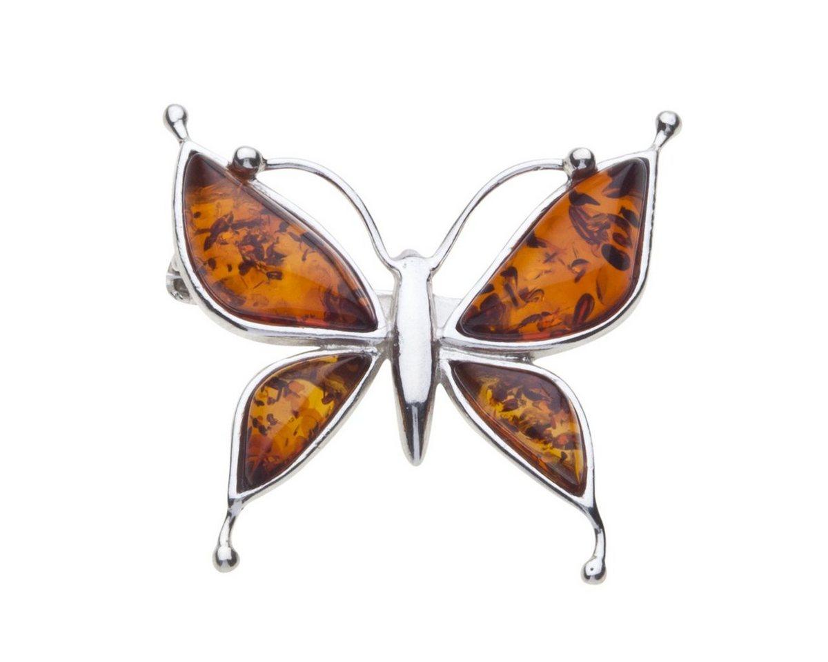 OSTSEE-SCHMUCK Brosche »Schmetterling Silber 925/000 Bernstein« | Schmuck > Broschen | Weiß | OSTSEE-SCHMUCK