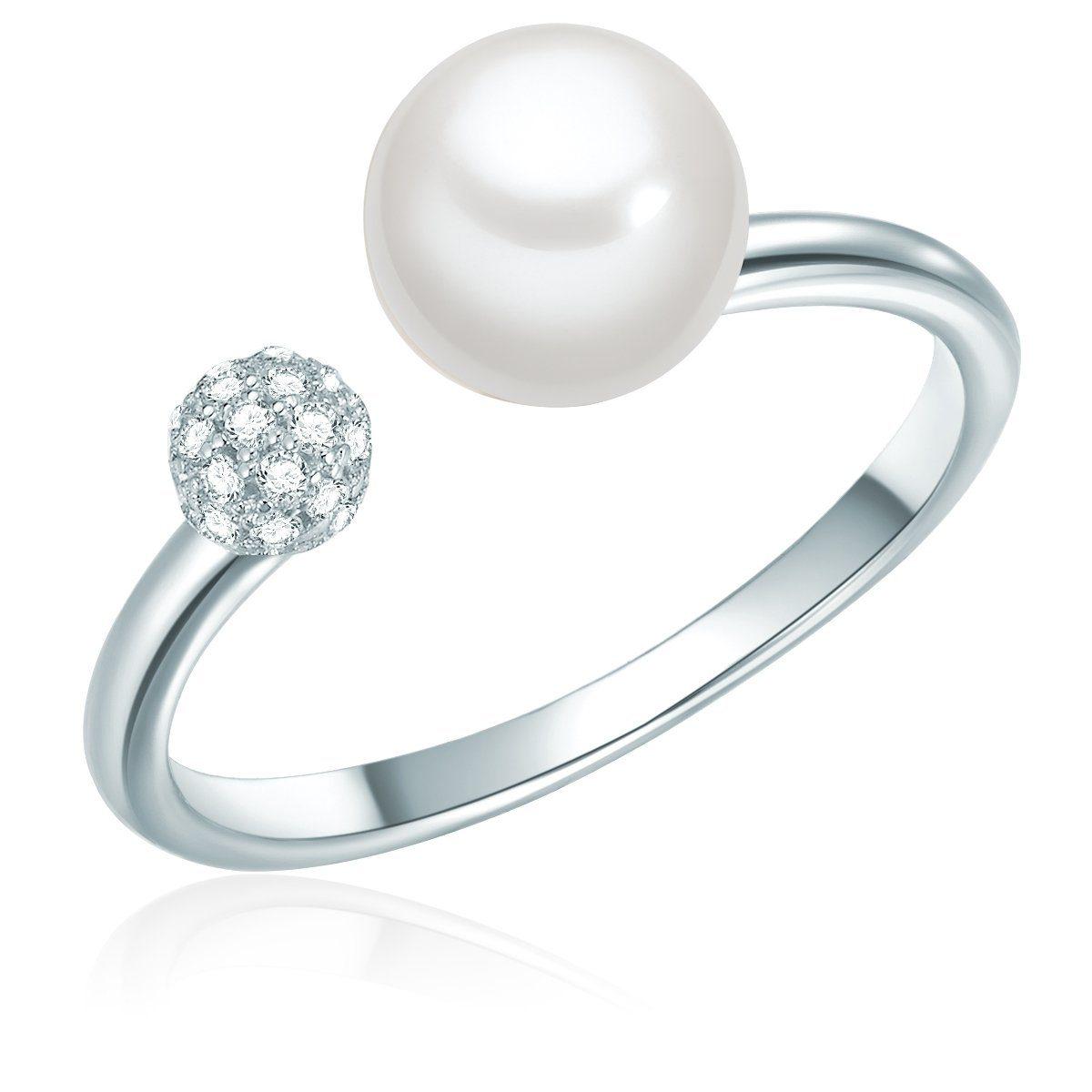 Valero Pearls Perlenring »ST108« mit Süßwasserperlen