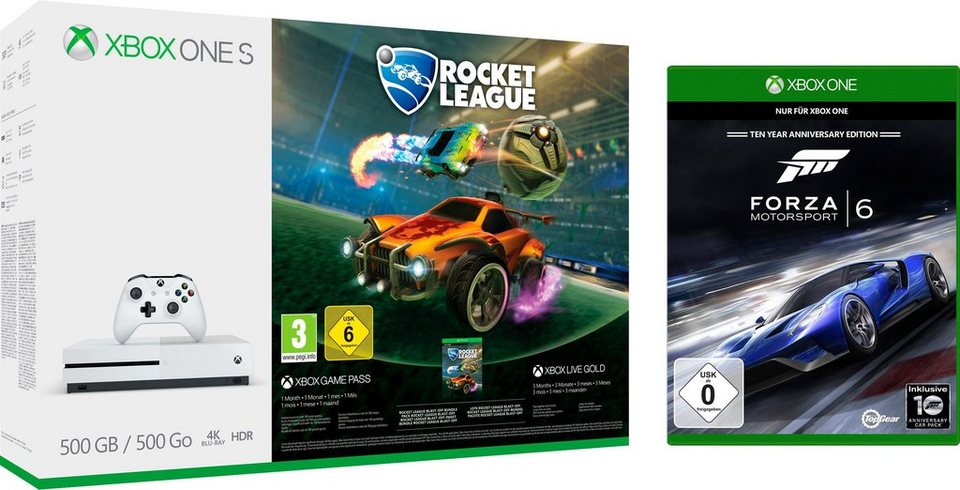Xbox One S 1tb Rocket League Bundle Inkl Forza 6 Online Kaufen