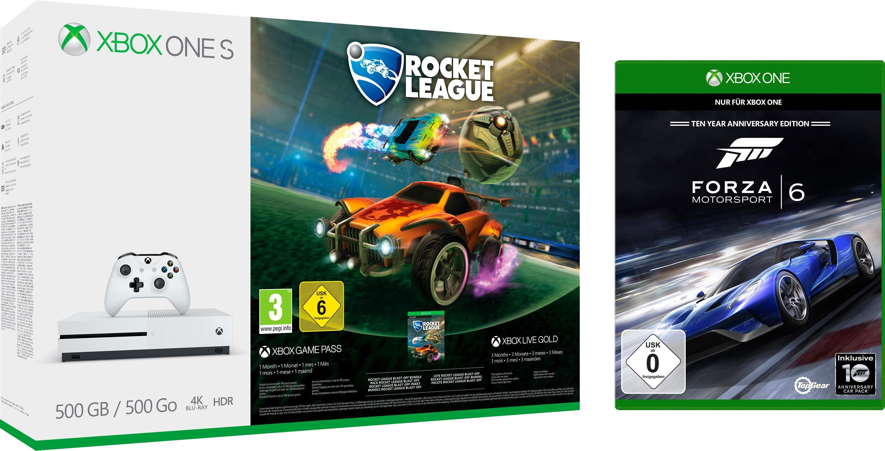 Xbox One S 1TB (Rocket League Bundle, inkl. Forza 6)