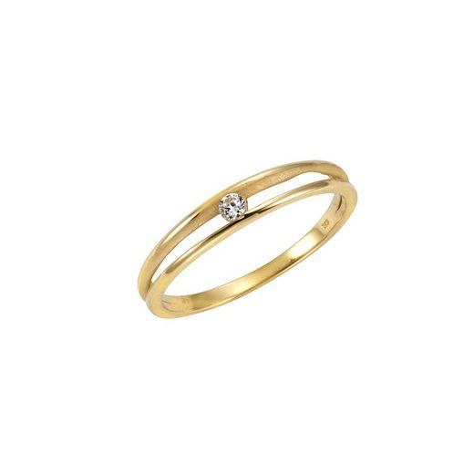 CELESTA Ring »375/- Gelbgold Zirkonia«