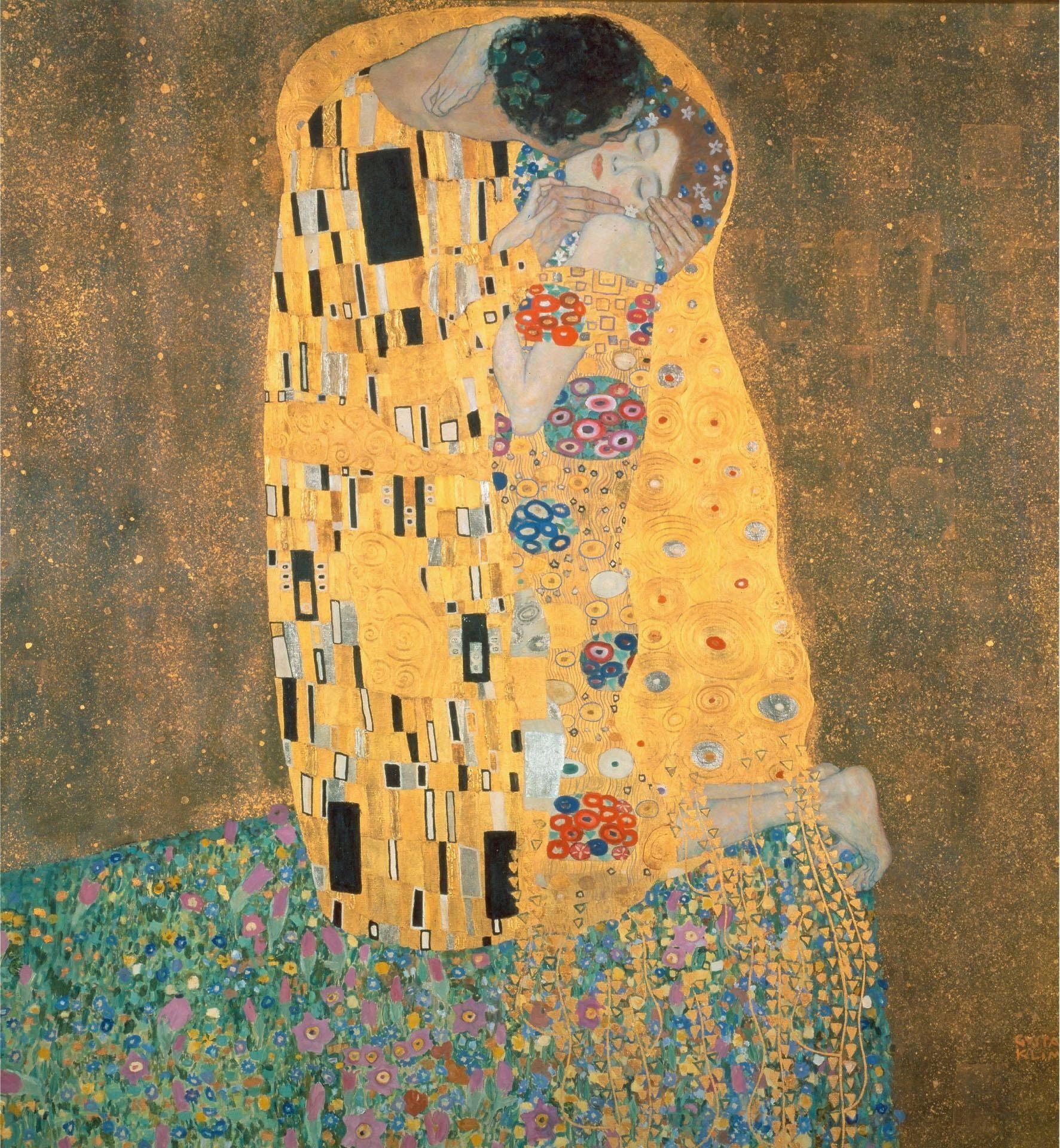 Fototapete »Klimt - Der Kuss« 240/260 cm