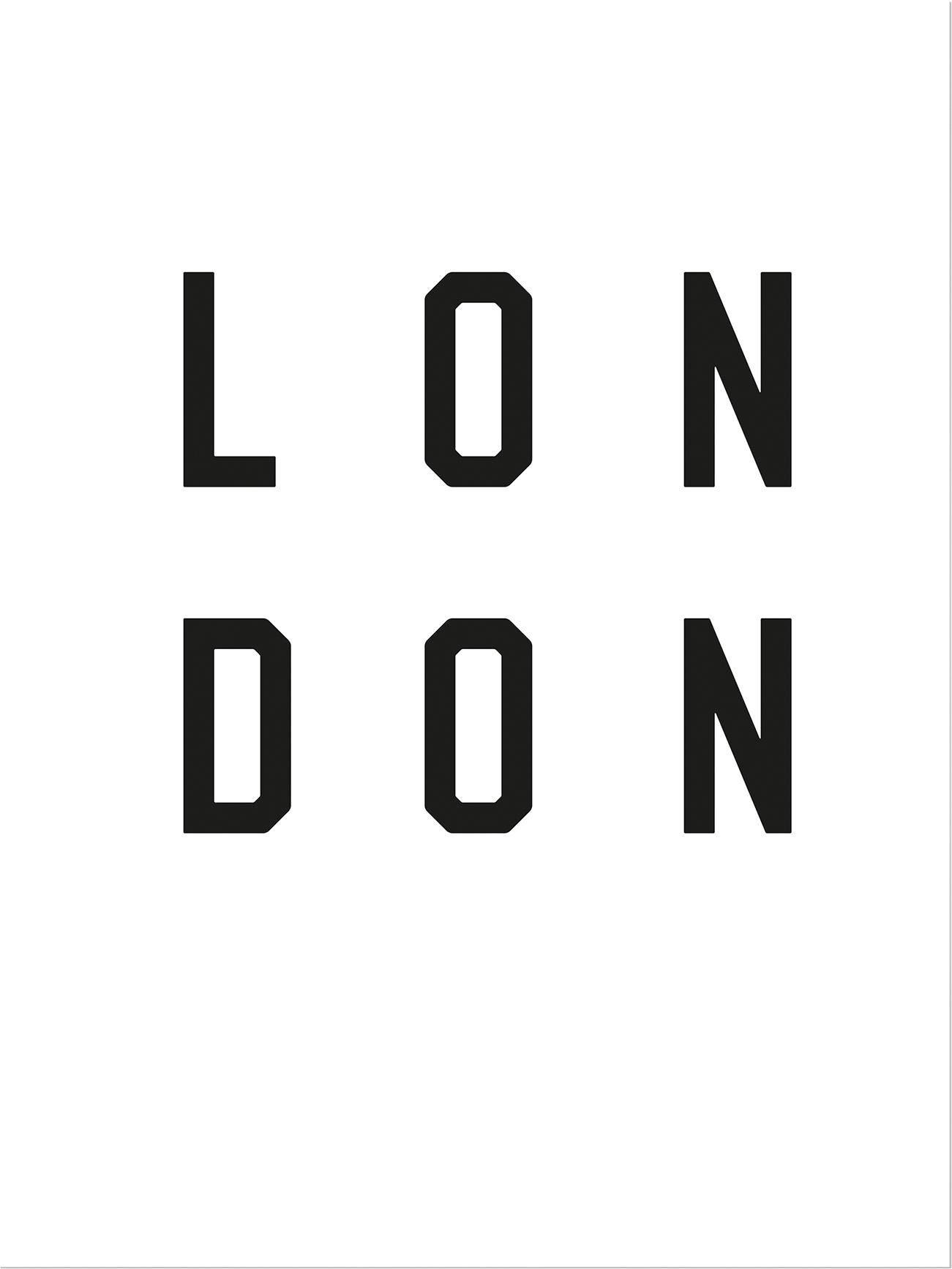Poster »Typographie London« 60/80 cm