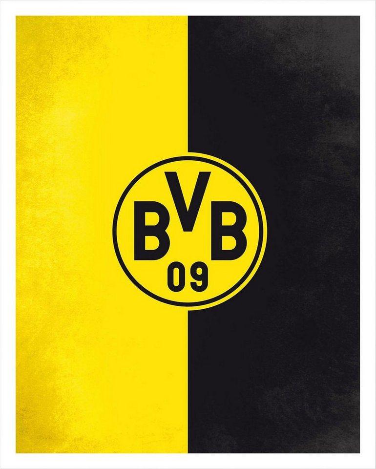 Poster Bvb Logo Gelb Schwarz Fussball Dekoratives Poster Online Kaufen Otto