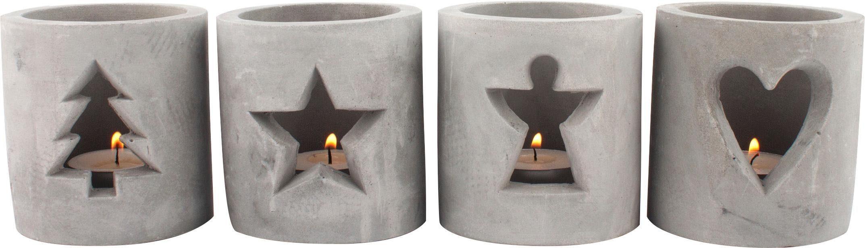 Home affaire Teelichthalter »Advent« 4er Set
