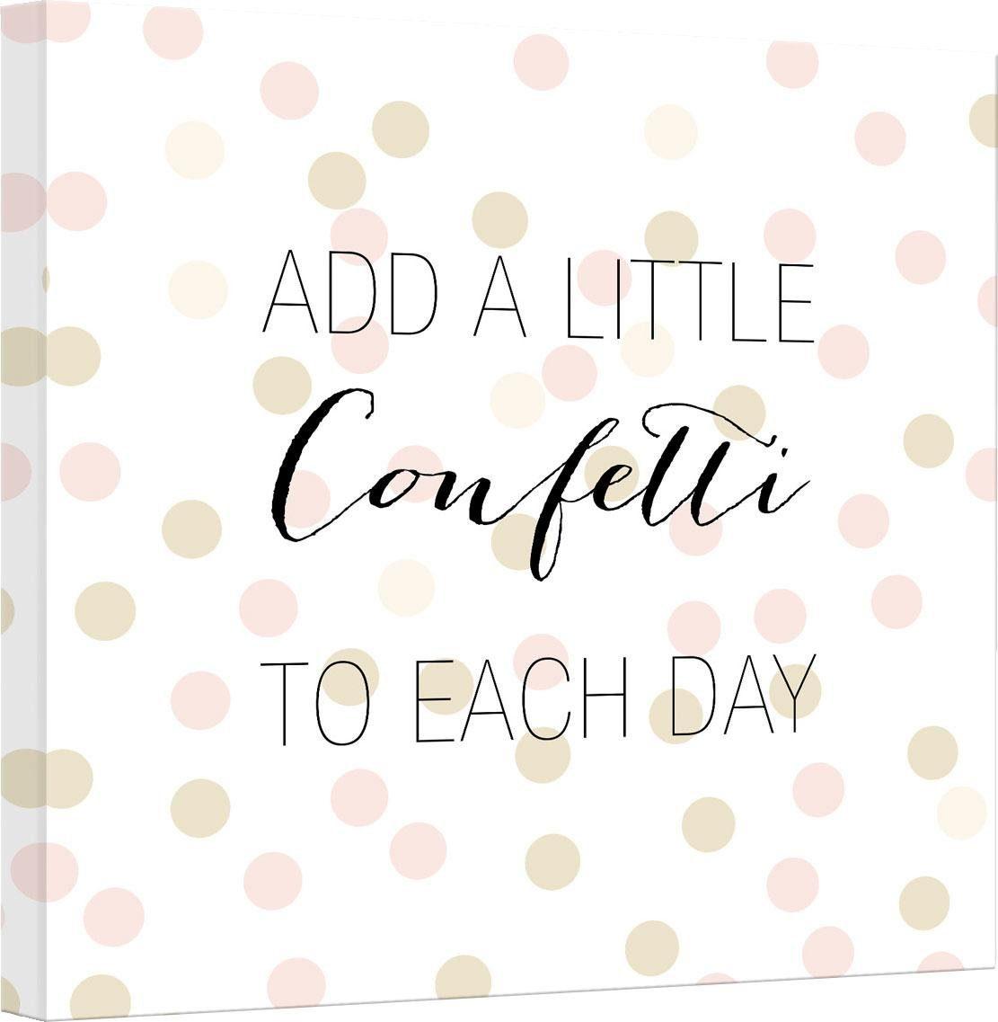 Leinwandbild »Confetti & Cream - Add a little confetti« 50/2/50 cm