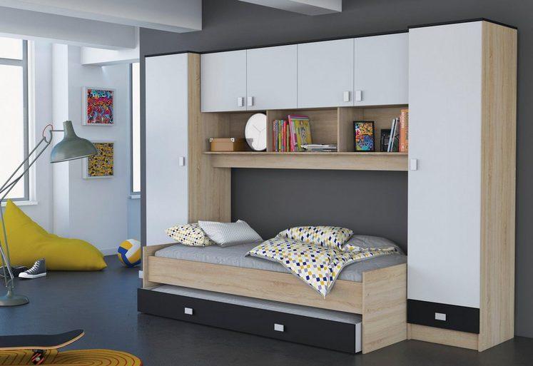 Demeyere Bett mit Überbau und Schubkasten