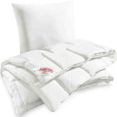 Bettdecke + Kopfkissen, »Utah«, Schlaf-Gut, Füllung: Schlaf-Gut Polytherm®, Bezug: 50% Baumwolle, 50% Polyester