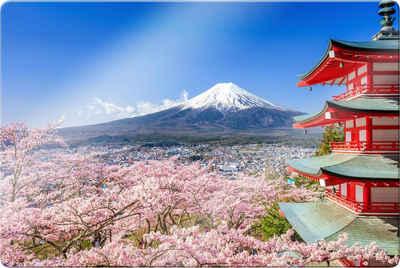 Wall-Art Glasbild »Mount Fuji«