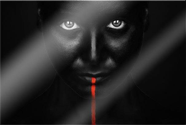 Acrylglasbild »Petkov - Red Stripe« 60/0,5/40 cm