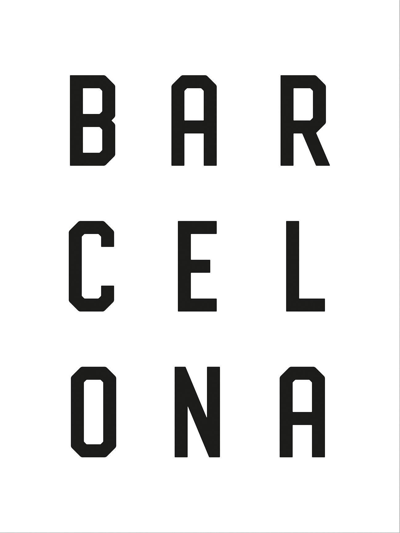 Poster »Typographie Barcelona« 60/80 cm