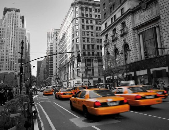 Vliestapete »Cabs in Manhattan«