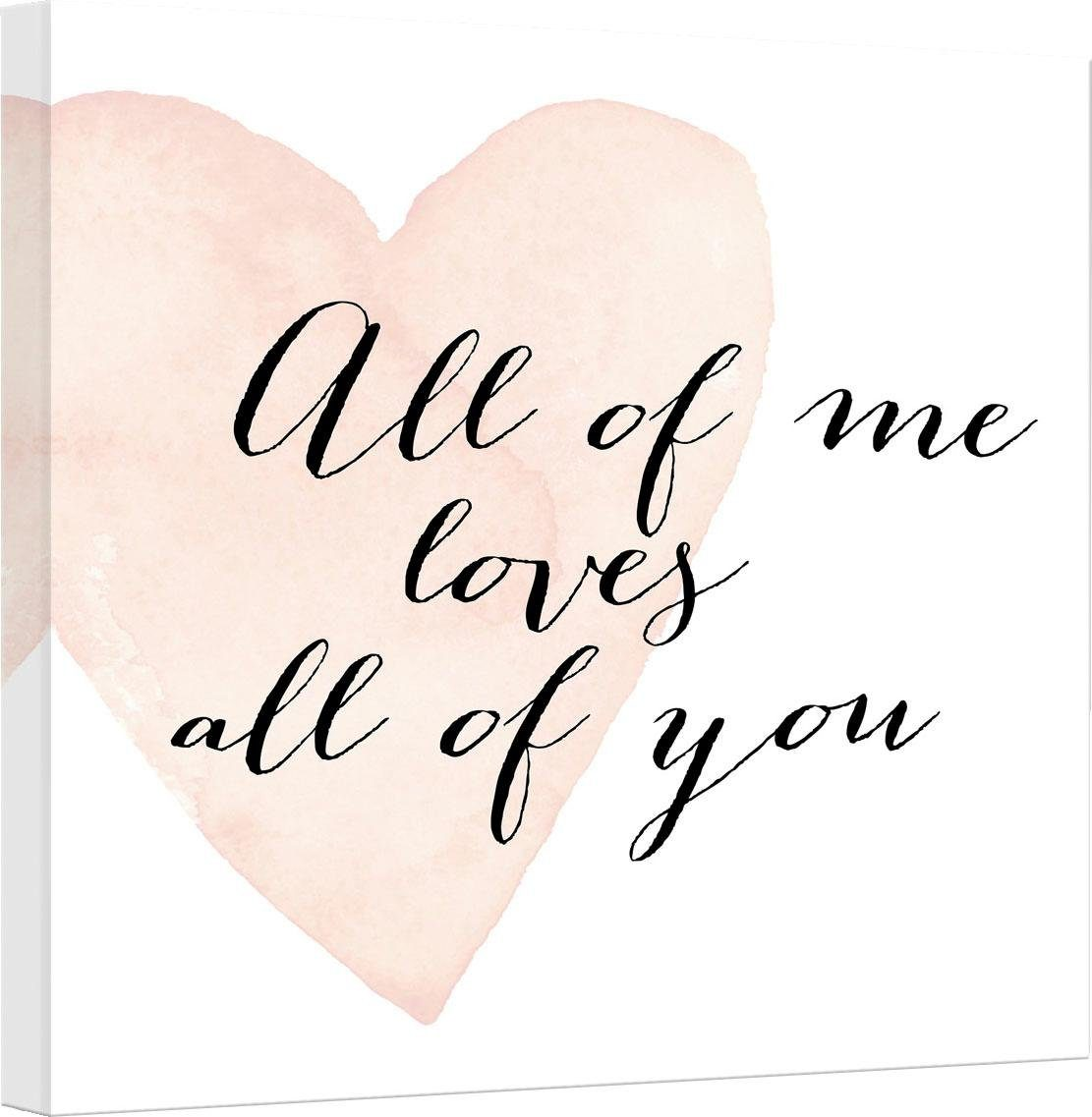 Leinwandbild »Confetti & Cream - All of me loves all of you« 40/2/40 cm