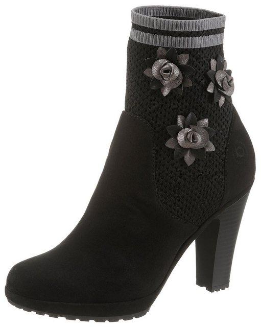 bugatti High-Heel-Stiefelette im lässigen Sock Boot-Look | Schuhe > High Heels > High Heel Stiefeletten | Bugatti