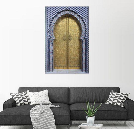 Posterlounge Wandbild - Vincenzo Lombardo »Tür des Königspalastes, Fez«