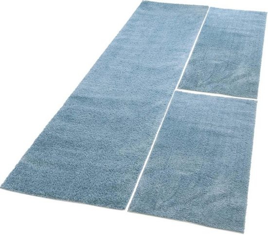Bettumrandung »Softshine 2236« Carpet City, höhe 30 mm, (Set, 3-tlg), besonders weich durch Microfaser