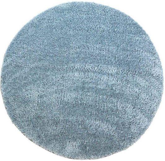 Hochflor-Teppich »Softshine 2236«, Carpet City, rund, Höhe 30 mm, besonders weich durch Microfaser