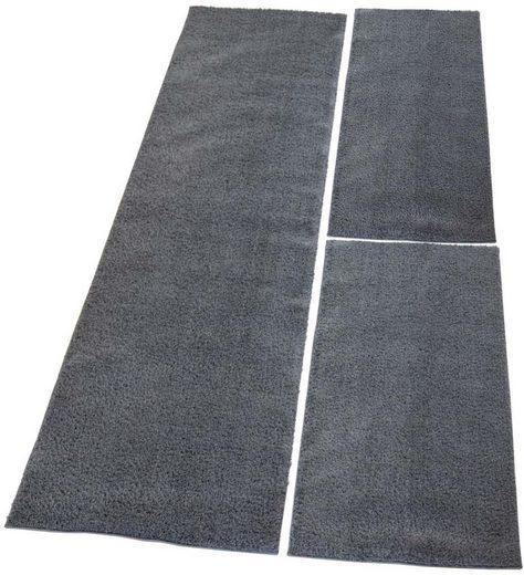 Bettumrandung »Softshine 2236« Carpet City, Höhe 30 mm, (Set, 3-tlg), besonders weich durch Microfaser