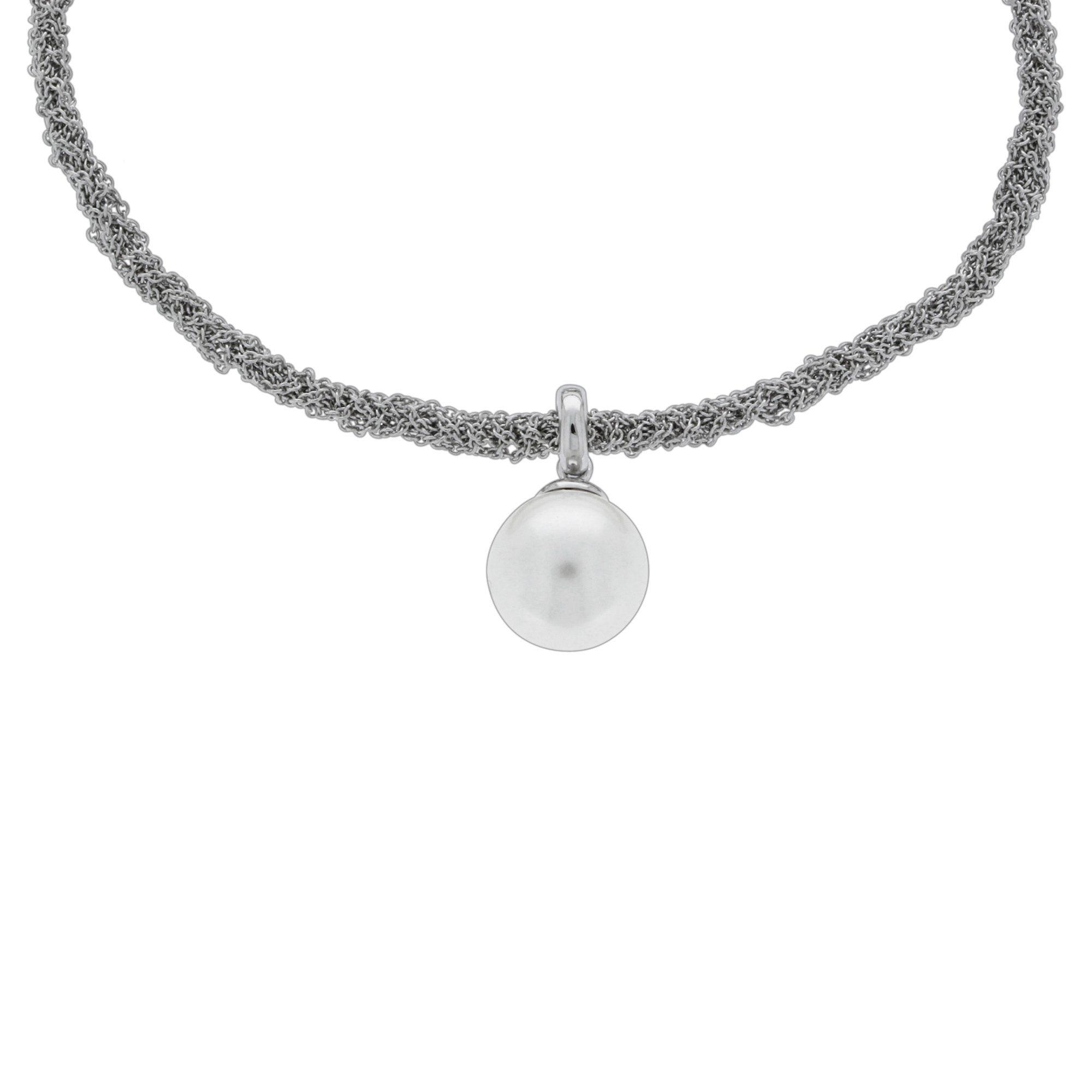 VIVANCE Kette mit Perl-Anhänger »925/- Silber rhod. 42+3cm«