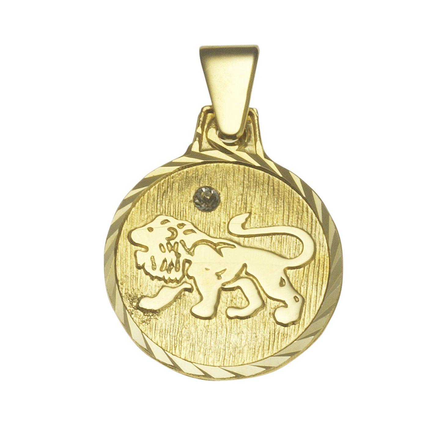 VIVANCE Anhänger Sternzeichen Löwe »333/- Gelbgold«