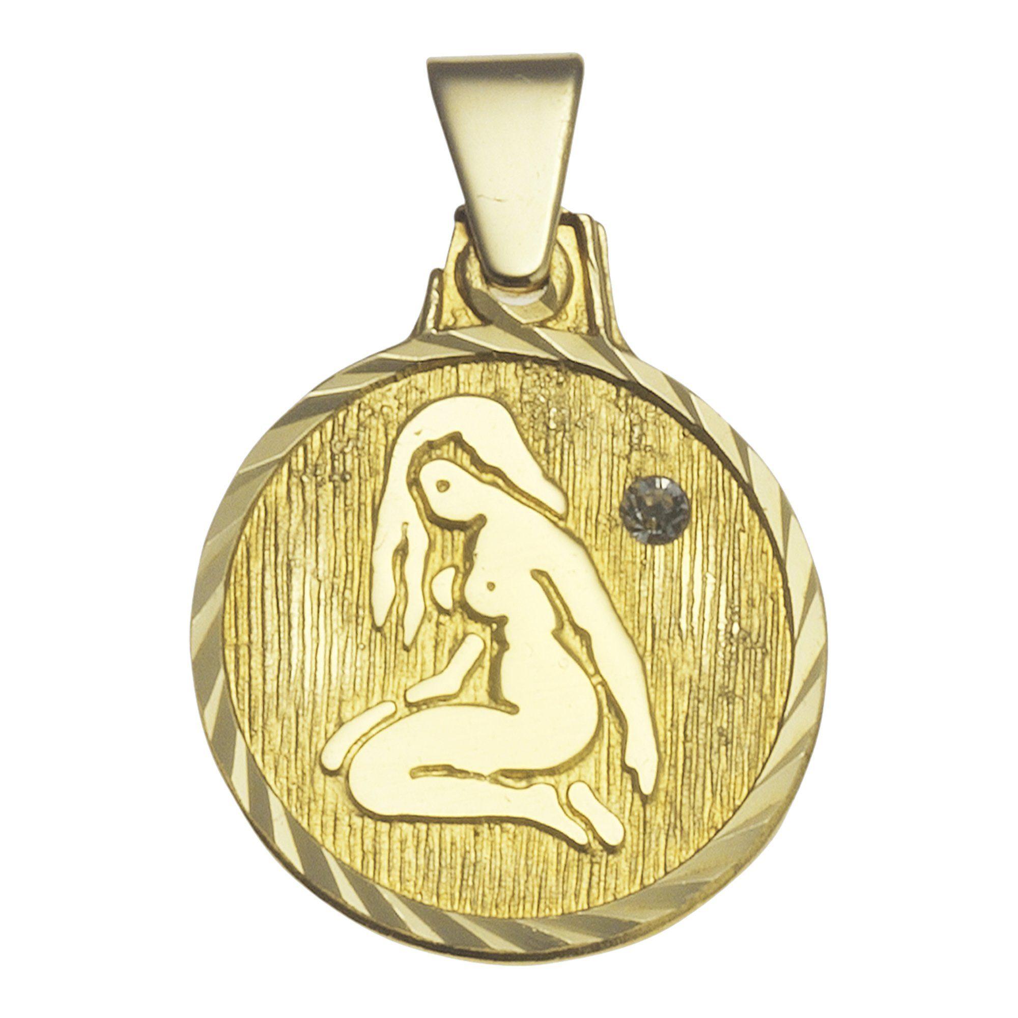 VIVANCE Anhänger Sternzeichen Jungfrau »333/- Gelbgold«