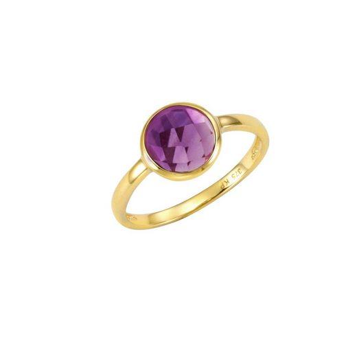 CELESTA Ring »375/- Gelbgold mit Amethyst«