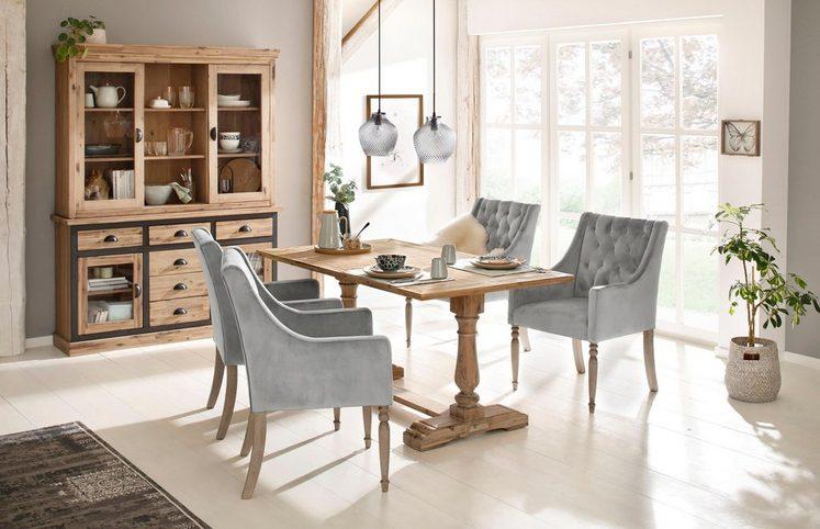 Home affaire Sideboard »Juliane« mit schöner dunkler Rahmenoptik aus massivem Akazienholz, Breite 150 cm