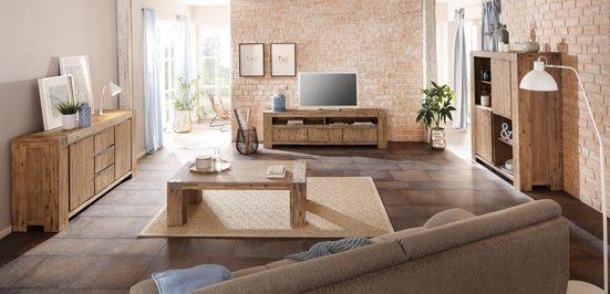 Home affaire Sideboard »Basano«, aus schönem massivem Akazienholz in zwei verschiedenen Größen