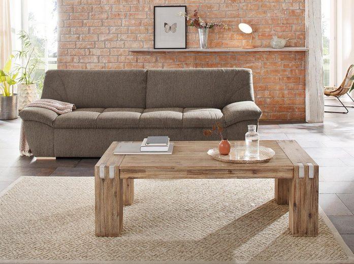 Home affaire Couchtisch »Basano«, im rustikalen Flair aus massivem Akazienholz