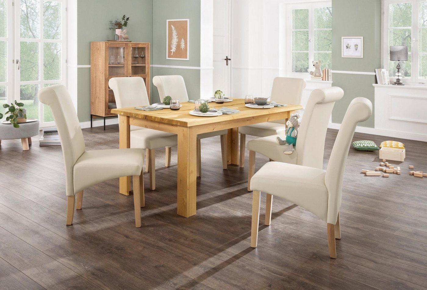 Home affaire Esstisch »Ixo« Mit 2 dekorativ geschwungenen Oberplatten.. Hochwertige Verarbeitung, zeitloses Design. - Home affaire