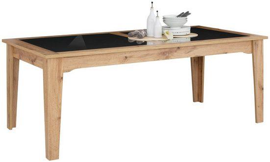 Home affaire Esstisch »Sonya«, mit Tischplatten aus graphitfarbenen Sicherheitsglas
